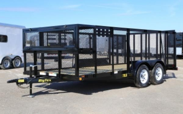70LR-16BK Big Tex Tandem Axle Landscape Trailer