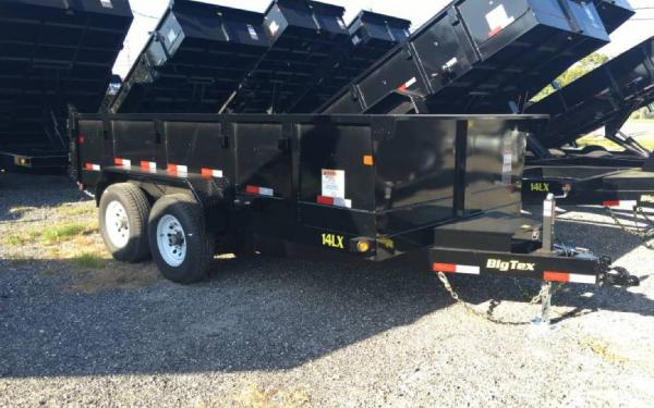 7' x 14' Big Tex Tandem Axle Low Pro Dump Trailer