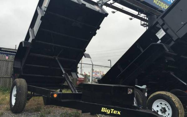 5' x 10' Big Tex 50SR Single Axle Single Ram Dump Trailer