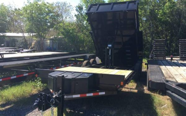 "81.5"" x 18' Midsota Flat Front Rear Dump Trailer"
