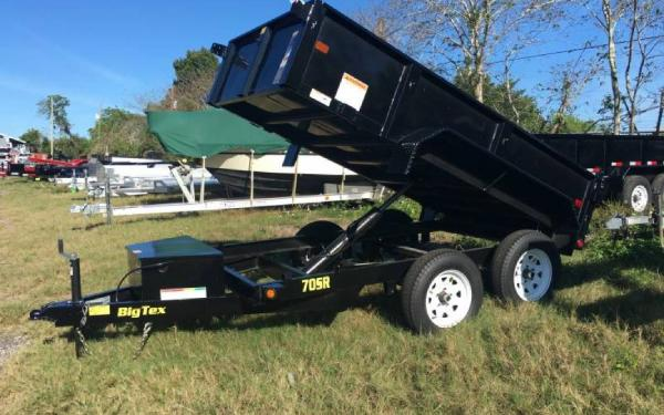 5x10 Big Tex Single Ram Dump Trailer