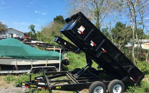 7' x 14' Tandem Axle Low Pro Dump Trailer