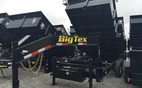 7' x 14' Tandem Axle Low Profile Gooseneck Dump Trailer