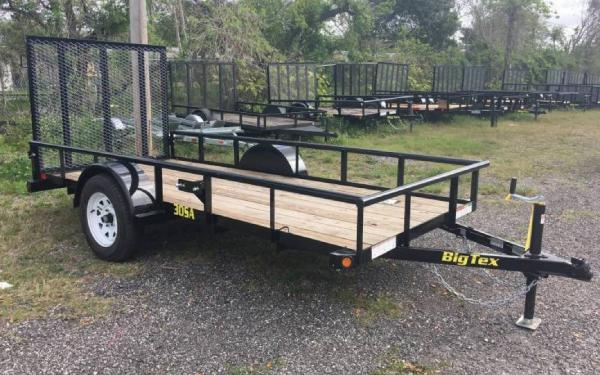 5' x 12' Big Tex Single Axle 30SA Utility Trailer