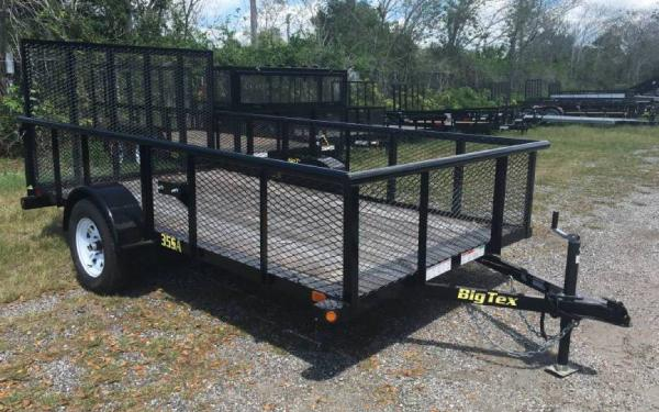 "6.5' x 12' 35SA Single Axle Utility Trailer w/ 2"" Sides"