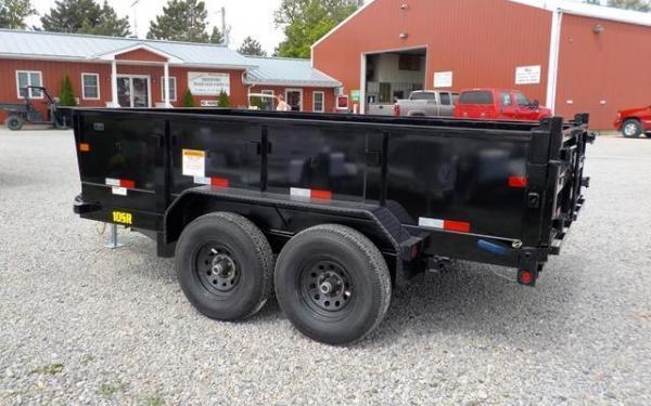 Big Tex 10SR ,TA,SR DUMP,(83 x 12) Black,7 Slide in Ramps