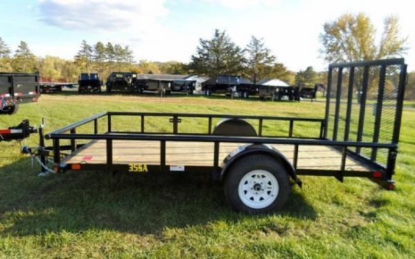 "Big Tex  35SA 77"" x 12 Single Axle Utility Trailer"
