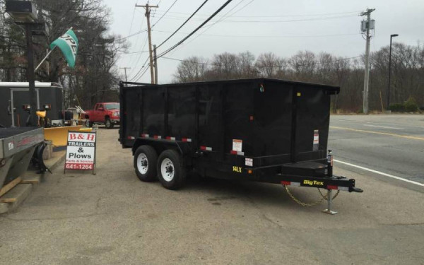 2019 Big Tex 14LX 14000lb 4ft high side dump trailer
