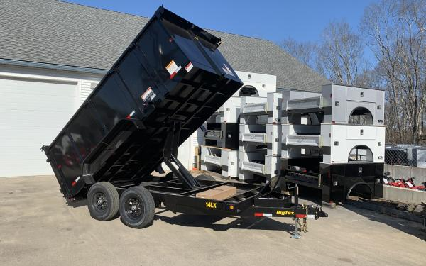 2019 Big Tex 14LX 14000lb 4ft high side dump trailer