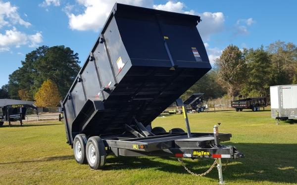 14LX- 12 Heavy Duty Tandem Axle Extra Wide Dump W/4' sides
