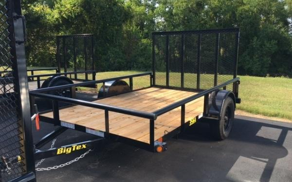 "Big Tex 35Sa-77"" x 12 Single Axle Utility Trailer"