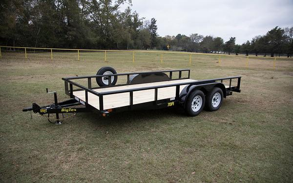 70PI-16' Big Tex Pipe Utility Trailer