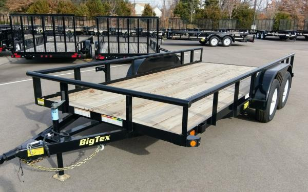70PI-16 Tandem Axle Pipe Top Utility Trailer