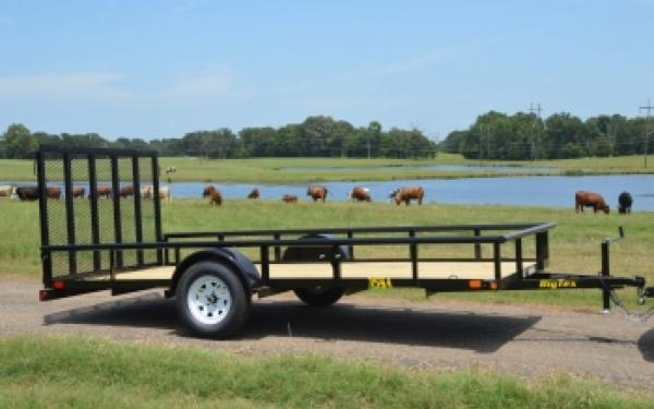 "35SA-77""x12' Big Tex Single Axle Trailer"