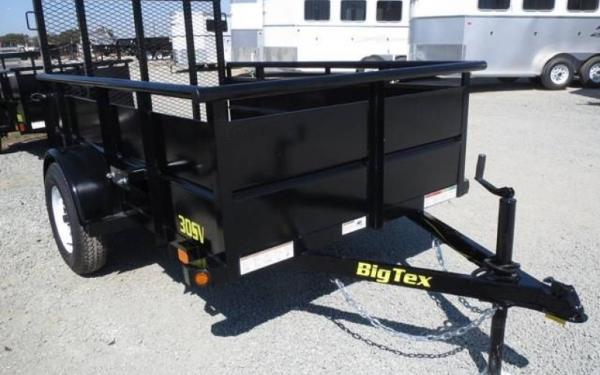 "Big Tex 30SV-60"" x 10 Single Axle Vanguard Trailer"