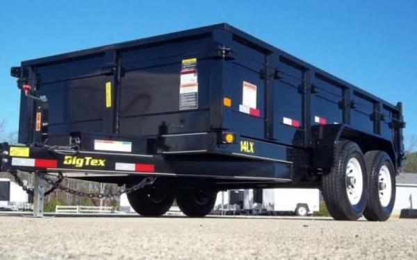 7x14 Big Tex Dump TA 14LX W/Tarp