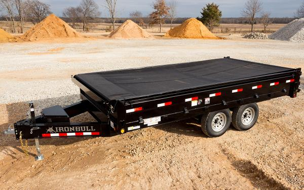 8x14 Ironbull Deck-Over Dump Trailer 14k