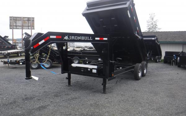 7x14 Ironbull Gooseneck Dump Trailer 14k