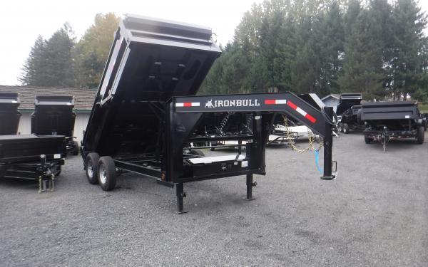 """7x14 Ironbull Gooseneck 36"""" Hi-Sides Dump Trailer 14k"""