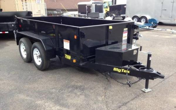 Big Tex Tandem Axle Single Ramp Dump Trailer