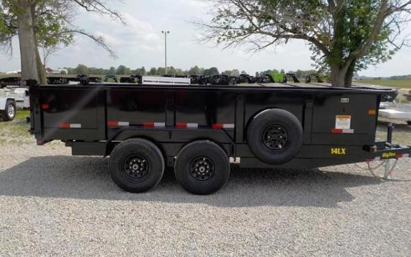 "Big Tex 14LX  TAND DUMP 83""x12 7SIR, SPMT, TARP KIT, BLACK"