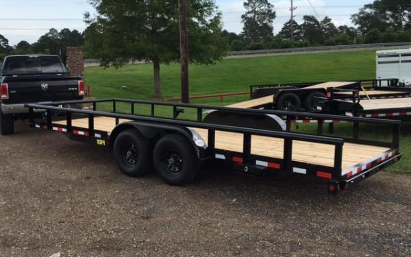 "Big Tex 10PI-83"" x 18 Pro Series Tandem Axle Pipe Top Utility Trailer"