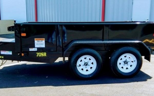 "Big Tex 70SR 10' x 60"" Tandem Axle Single Ram Dump"