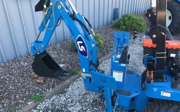 LS MT125 Tractor w/ mower and backhoe | Scott Equipment in