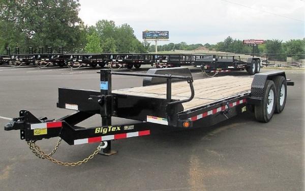 """Big Tex 14TL 83"""" x 20 (16 + 4) Heavy Duty Tilt Bed Trailer"""