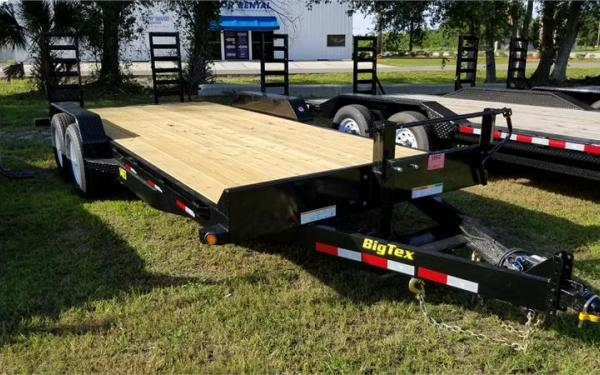 "Big Tex 14ET-83"" x 20 Tandem Axle Equipment Trailer"