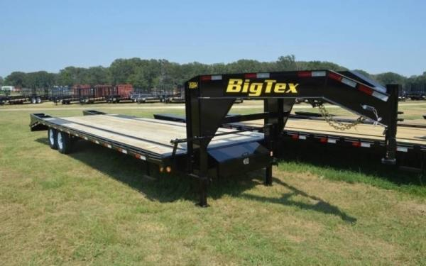 Big Tex 14GN 14,000#,TA,GN,(8 1/2 x 25 +5 Black,Dovetail with 5 Fold-up