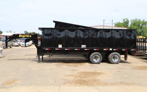 18' Big Tex Tandem Dual Axle Gooseneck Dump 25DU-18