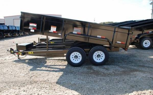 Big Tex 14' Tandem Axle Low Profile Extra Wide Dump 14LX-14