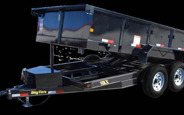 Big Tex 12' Tandem Axle Low Profile Extra Wide Dump 10LX-12