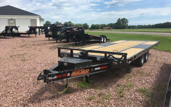 "2018 MAXXD TOX 102"" Wide x 22' Long Deck Over Tilt Bed Trailer #7737"
