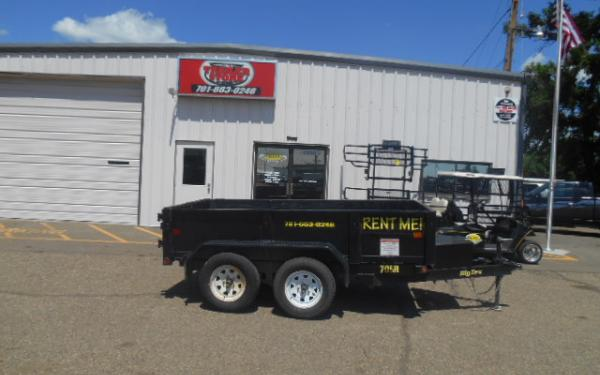 **RENTAL TRAILER** 10' DUMP TRAILER FOR RENT $65/DAY - WEEKEND, WEEKLY & MONTHLY RATES AVAILABLE