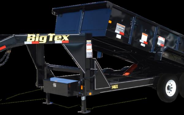 Big Tex 14GX-14 Heavy Duty Tandem Axle Extra Wide Gooseneck Dump
