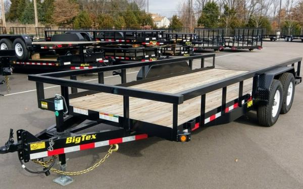Big Tex 14PI-18 HD Tandem Axle Pipe Top Utility Trailer