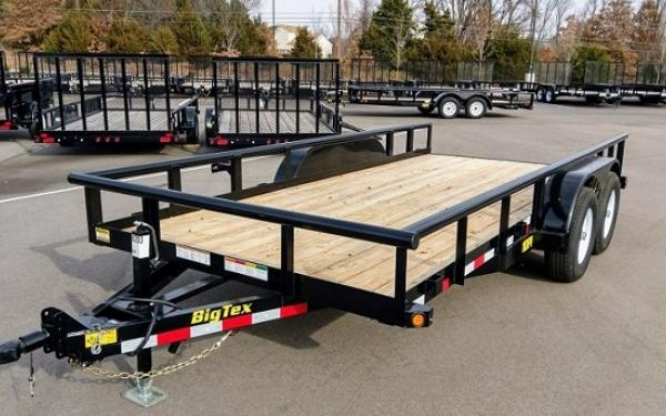 Big Tex 10PI-20 Pro Series Tandem Axle Pipe Top Utility Trailer