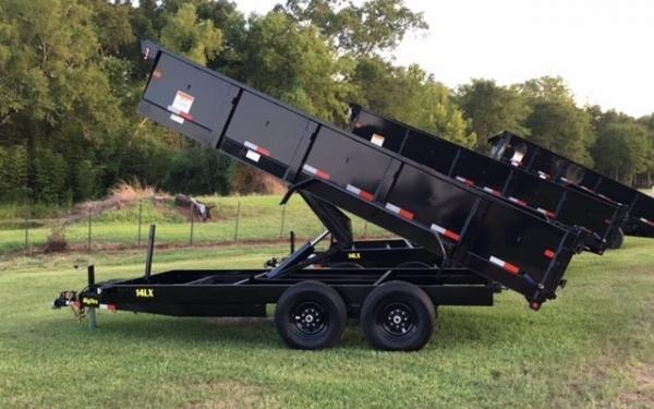 Big Tex  14LX DUMP,(83 x 14) 7 Ramps, Combo Gate,LED,P-DN