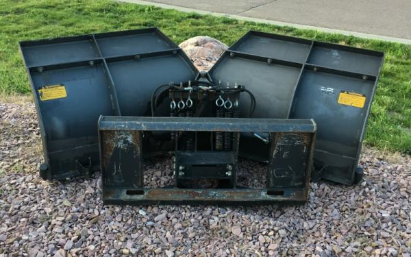 Used V Blade Skid Steer Attachment