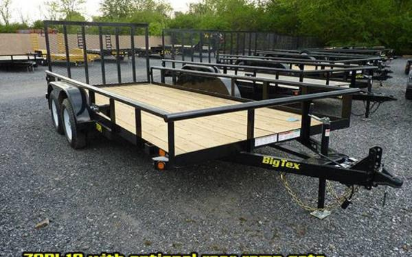 Big Tex 70PI-X Tandem Pipe Utility 18' w/ramp gate-GA