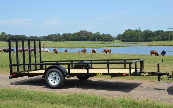 "Big Tex 35SA 77"" x 12 Single Axle Utility Trailer"