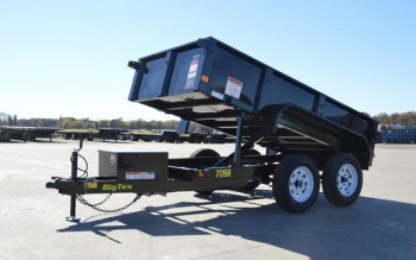 Big Tex 60'x10 7,000# Single ram Dump Truck