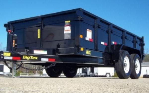 "Big Tex 83""x14' Low Profile Dump Trailer with Ramps"