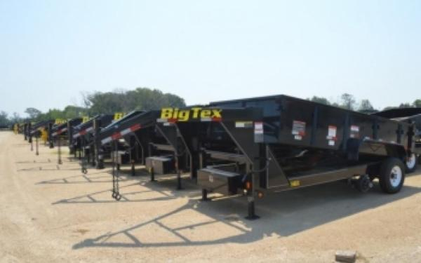 "Big Tex 83""x14' Low Profile Extra Wide Dump Gooseneck"