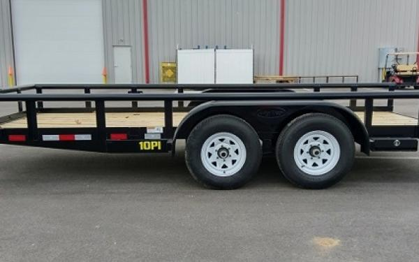 "10PI-83"" x 16 Pro Series Tandem Axle Pipe Top Utility Trailer"