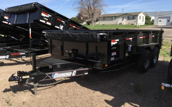 Diamond C 21WD 14 ft W/ Slide-In Ramp