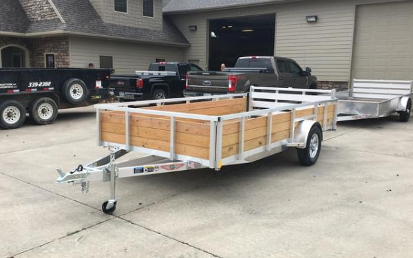 2019 H&H WSA 8.5x14 Aluminum Wood Sided Utility Trailer #2982