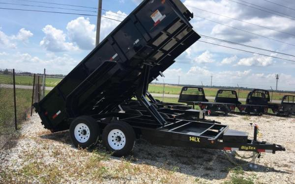 Big Tex 7x14 14k Dump Trailer W/ Hyd Jack